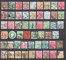 India, British Colonies (Group of Stamps, Canceled)