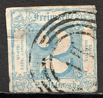 1862-64 Thurn und Taxis Germany 2 Gr (CV $120, Signed, Cancelled)