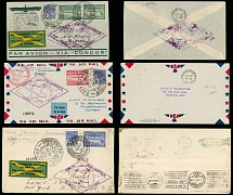 Brazil Air Post Semi-Official issues: May 24-June 6, 1930, 1st SAF three covers
