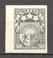 1923-25 Latvia 50 S (Probe, Proof, MNH)
