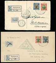 Iceland June 30-July 3, 1931, Iceland Zeppelin Flight postcard and cover