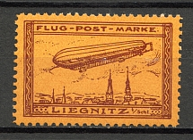 1913 Liegnitz Germany Zeppelin Special Flights Brown (MNH)