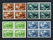 1943 25th Anniversary of the Red Army and Navy, Soviet Union USSR (Blocks of Four, Full Set, MNH)