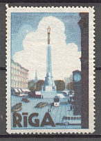 Latvia Riga Baltic Non-Postal Label
