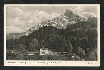 1936 Mountain View Photo Postcard with Special postmark (Jeder Volksgenosse Rundfunkhörer)