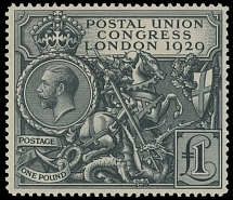 Great Britain, 1929, Postal Union Congress, King George V, £1 black