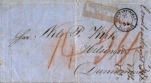 1854, 1854, folded letter from the french post office CONSTANTINOPEL via