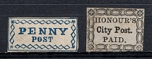 Penny Post+ `Honour's` City Post, USA, Local