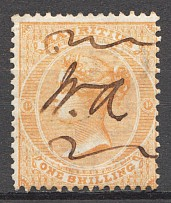 1863-72 British Mauritius Inverted Watermark CV $70 (Cancelled)