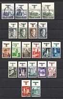 1940-44 General Government, Germany (2 Scans, Group of Stamps, Eagle on the Field+Control Text, Canceled/MH/MNH)
