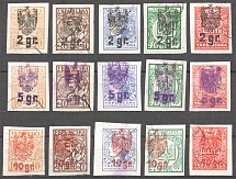 Ukrainian Stamps with Polish Overprints (Full Sets, Cancelled)