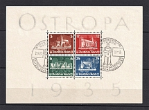 1935 Third Reich, Germany `Ostropa` (Souvenir Sheet Mi. 3, CV $1,200, Special Cancellation KONIGSBERG)