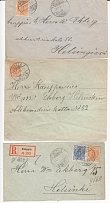 1892 - 1898 years. The Russian Empire. Russian Finland. Lot of 14 mailings (enve