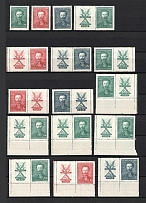 1938 Czechoslovakia Collection (Coupons, Blocks of Four, Full Sets, 3 Scans, CV $30, MH/MNH)