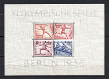 1936 Third Reich, Germany (Souvenir Sheet Mi. 6, CV $155, MNH)