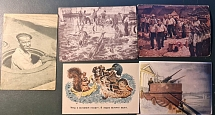 1942. Five postcards with a nautical theme