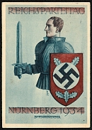 1934 Reich party rally of the NSDAP in Nuremberg, Knight with a swastika shield