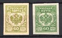 1919 Russian Post Civil War 60 kop (Varieties of Color)