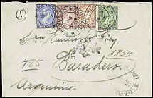 1903-38, Selection of ten covers, noted early registered item to Argentina, also