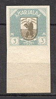 1922 Russia Provisional Government of Karelia Civil War 3 M (Probe, Proof, MNH)