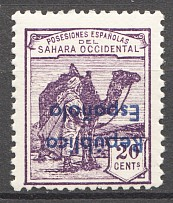 1932 Spanish Sahara Inverted  + Error Color Overprint