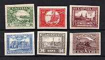 1928 Latvia (Imperforated, Signed, Full Set, CV $30)