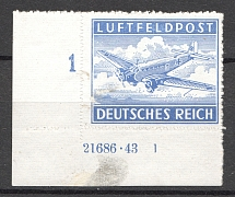 1942-43 Germany Reich Feldpost (Control Text and Number, Full Set)