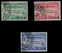 Brazil Air Post Semi-Official issues 1930, Zeppelin stamps, 4th set, used