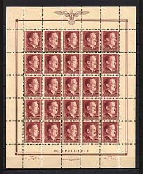 1942 30g+1Z General Government, Germany (Block, Sheet, MNH/MLH)