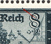 1944 8pf Third Reich, Germany (Mi. 889 IV, Dot above Frame, Print Error, Control Numbers, Corner Margins, Pair, CV $100, MNH)