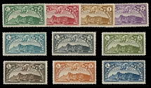 San Marino, AIR POST STAMPS, 1931, View of San Marino, 50c-10L, cplt of ten