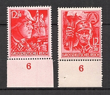1945 Germany Reich Last Issue (Control Numbers `6`, Full Set, CV $100, MNH)