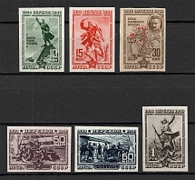 1940 The 20th Anniversary of Fall of Perekop, Soviet Union USSR (Imperforated, Full Set, MNH)