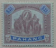 1920, 25 $, purple & blue/blue, wmk Mult Script CA, perf. 14, very attractive, h