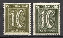 1921 Germany Dark Olive Color (CV $250, Signed, MNH)