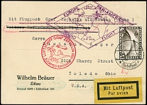 Germany-Zeppelin Flights May 18-31, 1930, First SAF postcard to Lakehurst