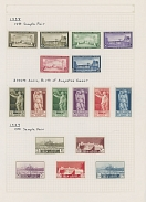 ITALIAN COLONIES - LIBYA: PRACTICALLY COMPLETE COLLECTION ON ALBUM PAGES: 1912-51, about 400 mostly mint stamps, starting with ''Libia'' overprints on King Victor Emmanuel values, three complete definitive sets of 1921, 1924 and 1926