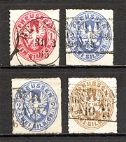 1861 Prussia Germany (Full Set, Cancelled)