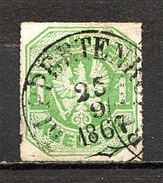 1867 Prussia Germany 1 Kr (CV $70, Cancelled)