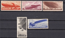 1934 USSR. Airships. Soloviev 470 - 474. A series of 5 stamps. Condition *.