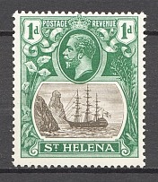 1922-37 British St. Helena Island Cleft Rock CV $80 (MNH)