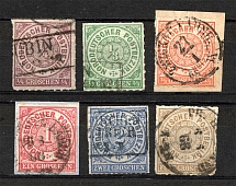 1868 North German Confederation Germany (CV $45, Full Set, Cancelled)