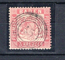 BADEN, Michel no.: 16 used, Cat. value: 350€