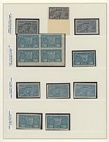 New Design Definitive Issue, COLLECTION: 1922, 33 stamps in singles, pairs and