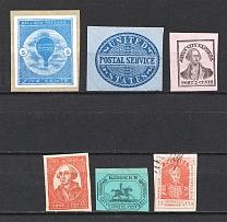 Group of Stamps, USA, Local (MH/Canceled)