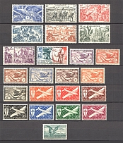 1942-49 New Caledonia French Colony (Full Sets)