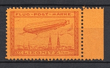 1913 Liegnitz Germany Zeppelin Special Flights (Red, MNH)