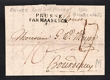 1804 Cover from St. Petersburg to Boudreaux, France (PRUSSE PAR MAASEYCK)