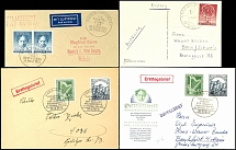 1950/52, 4 tadellose FDC, dabei ERP, Philharmonie (2mal) und Beethoven im waager. Paar a.