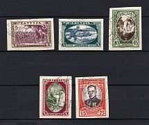 1932 Latvia (Imperforated, Full Set, Canceled, CV $40)